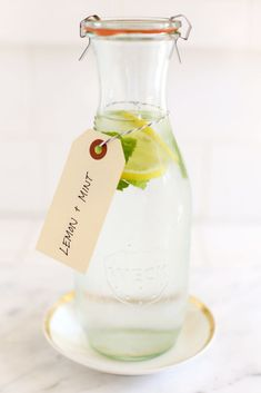 This Lemon Mint Water is sure to leave you feeling revitalized.