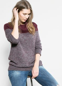 Contrast flecked sweater REF. 33089010 - Pippa $44.99 Star price d  Color:  Maroon