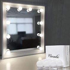 Buy Chende Hollywood Style LED Vanity Mirror Lights Kit with Dimmable Light Bulbs, Lighting Fixture Strip for Makeup Vanity Table Set in Dressing Room (Mirror Not Include) at Discounted Prices ✓ FREE DELIVERY possible on eligible purchases. Makeup Dressing Table, Makeup Table Vanity, Hollywood Mirror, Bathroom Mirror Lights, Vanity Table Set, Hollywood Mirror With Lights, Dressing Room Mirror, Vanity Light Bulbs, Mirror