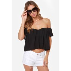 Lulus Off The Shoulder Top Lulus black off the shoulder top! Size small! NO TRADES Tops