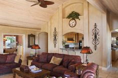 Living room off the kitchen from Million Dollar Views property