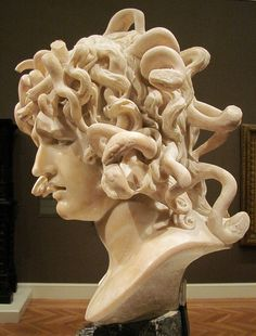 Medusa is a marble sculpture executed by the Italian sculptor Gian Lorenzo Bernini. Bernini Sculpture, Lion Sculpture, Arte Horror, Horror Art, Medusa, Gian Lorenzo Bernini, Famous Sculptures, Italian Sculptors, Greek Statues