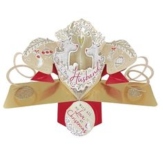 Husband Christmas Pop-Up Greeting Card Second Nature Pop Up Cards Exclusive To Love Kate's Pop Up Greeting Cards, Pop Up Cards, Christmas Greeting Cards, Christmas Greetings, Christmas Pops, Christmas Nativity, Nature 3d, Paper Engineering, 3d Cards
