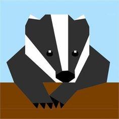 Woodland Badger Paper Pieced Pattern