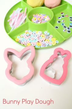 Bunny Play Dough Invitation for Easter