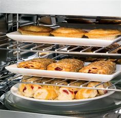 The GE Profile Series Over-the-Range Convection Microwave Oven is equipped with three ovens in one, as well as an automatic converter that takes the guesswork out of convection cooking.