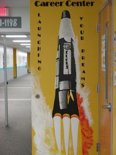 Rocket Mural for a High School College & Career Center