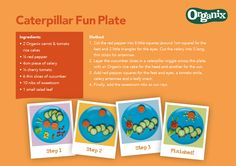 Explore new foods with your little one and give our Organix crawly caterpillar fun plate a try #OrganixFoodFun