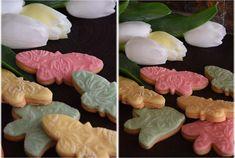 Vanilkové sušenky zdobené marcipánem Sugar, Cookies, Ethnic Recipes, Desserts, Food, Crack Crackers, Tailgate Desserts, Deserts, Eten