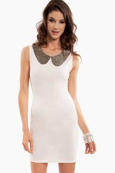Penni Ponti Collar Dress $37 at www.tobi.com