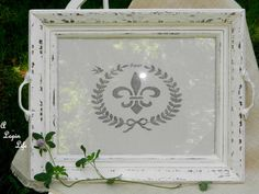A Lapin Life:  How to make a tray from a thrift store frame and homemade chalk paint!