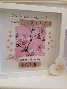 Side by side or miles apart we are sisters by MadeJust4UFrames