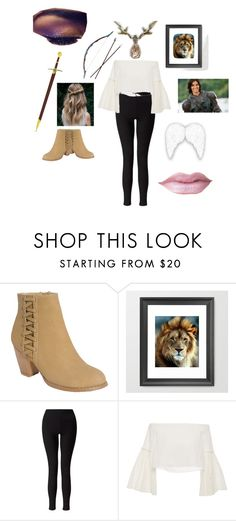 """The Protector Of Narnia"" by andrejafrukacz ❤ liked on Polyvore featuring Top Moda, Bow & Arrow, Miss Selfridge, Rosetta Getty, Narnia, caspian and aslan"