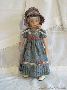 "13"" Effner Little Darling BJD fashion teal Regency OOAK handmade by JEC #ClothingAccessories"
