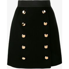 Dolce & Gabbana A-Line Skirt With Gold Buttons ($955) ❤ liked on Polyvore featuring skirts, knee length a line skirt, leopard print skirt, elastic waist a line skirt, dolce gabbana skirt and wool skirts