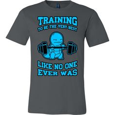 POKEMON SQUIRTLE TRAINING Men Short Sleeve T Shirt - TL00432SS