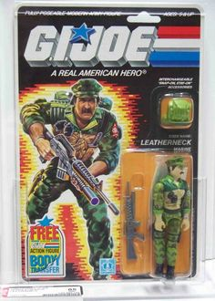 "Action figure for Leatherneck, a U.S. marine, from the ""G.I.Joe"" line of toys"