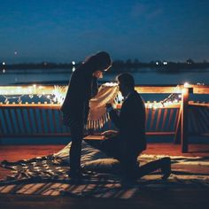 We're in love with this sweet pier proposal, and this couple's story is just the cutest.