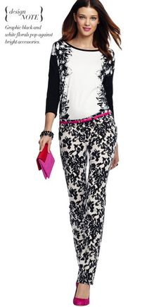 We are loving the look of these graphic print pants and top from Ann Taylor!