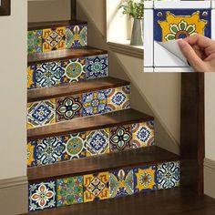 Details about Wall Tile Sticker Kitchen Bathroom Decorative Decal : Mexican Talavera - Thuisdecoratie Tile Decals, Wall Tiles, Vinyl Decals, Room Tiles, Tile Stickers Kitchen, Diy Casa, Bathroom Wall, Bathroom Interior, Bathroom Ideas
