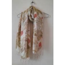 """Large Ecoprinted pure silk scarf, Hand Naturally dyed silk wrap shawls 80x165 cm (31.5""""x 65 """")- lovely gift for mum and friend Gifts For Mum, New Baby Gifts, Mother Gifts, Silk Baby Blanket, Raw Silk Fabric, Dyed Silk, Awesome Gifts, Silk Wrap, Mulberry Silk"""