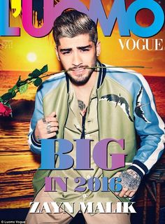 Zayn Malik in a photo shoot for  Luomo Vogue. via MailOnline
