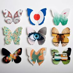 magazine butterflies. wouldn't this be cool to attach to a canvas? Like a 3D painting?? What do you think, @Katie Jennings?