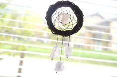 THE QUARTZ - Small Dream Catcher - Gypsy Decor - Car Dream catcher - Car Accessories - Bridesmaid Gifts by WelcomeToMyDream on Etsy