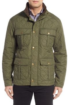Barbour 'Explorer' Water-Resistant Quilted Utility Jacket available at #Nordstrom
