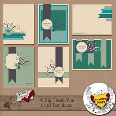 A Big Thank You Card Templates by AmyDane Designs