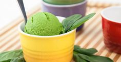 Spinach Ice Cream Recipe | Blendtec. Had this at Costco sample table today-- delish.
