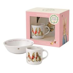 Wedgwood Peter Rabbit Kinderservies 2-delig meisje - porselein