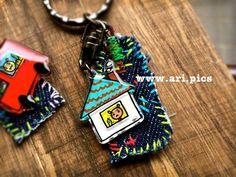おうちのキーホルダー。 #handmade #keyring #original #プラバン #ハンドメイド #ari