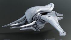Halo Space Banshee, Travis Brady on ArtStation at… Alien Spaceship, Spaceship Design, Spaceship Concept, Robot Concept Art, Robot Art, Halo Ships, Carros Lamborghini, Robot Technology, Technology Gadgets