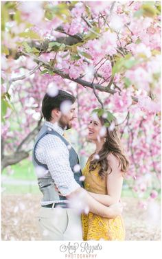 Cherry Blossom Engagement Central Park Engagement Photos www.amyrizzutophotography.com