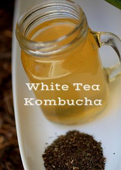 White Tea Kombucha!  Low in Caffeine, delicate and delicious! ~Cultured Food Life