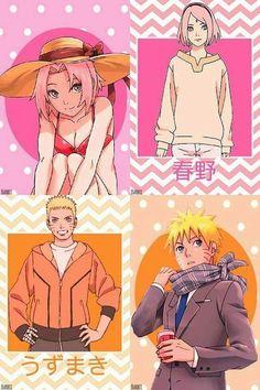 Sakura and Naruto Casual Style ❤️❤️❤️