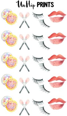 Makeup Planner Stickers Beauty planner stickers Day by UnHipPrints