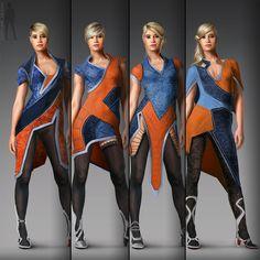 female costume design, Rolf Bertz on ArtStation at https://www.artstation.com/artwork/YJ4W3