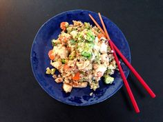 Healthy Chicken Fried Rice August 20, 2014 by Andrea Tooley 7 Comments