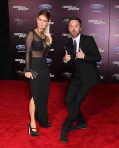 Aaron Paul Imogen Poots: 'Need for Speed' Premiere! Aaron Paul #AaronPaul #ImogenPoots