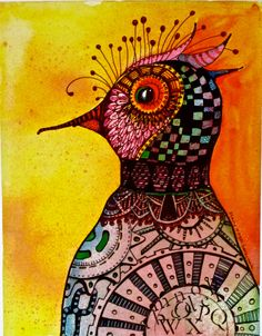 Folk Art Zentangle