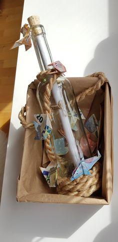 Geldgeschenk maritim Flaschenpost