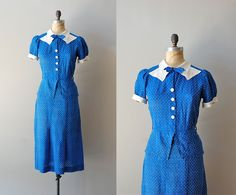 1930s dress / 30s dress / Deauville dress by DearGolden on Etsy, $98.00