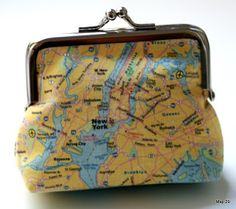 Map coin purse