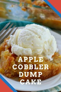 The perfect easy dessert recipe for fall! This Apple Cobbler Dump Cake comes together in minutes — no mixing bowls required! Zuchinni Recipes, Low Carb Vegetarian Recipes, Easy Healthy Recipes, Crockpot Recipes, Keto Recipes, Easy Meals, Simply Recipes, Chicken Snitzel Recipe