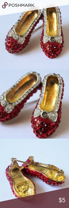 Selling this Ruby Red Slippers Brooch on Poshmark! My username is: lindsayishere. #shopmycloset #poshmark #fashion #shopping #style #forsale #Jewelry
