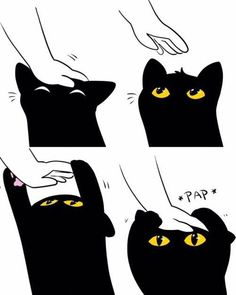 Image uploaded by Find images and videos about black, cat and kawaii on We Heart It - the app to get lost in what you love. I Love Cats, Crazy Cats, Cute Cats, Cute Black Cats, Baby Animals, Funny Animals, Cute Animals, Cute Comics, Animal Memes