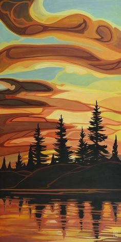 Erica Hawkes — Ottawa Art and Framing Landscape Art, Landscape Paintings, Landscapes, Ottawa Art Gallery, Indigenous Art, Canadian Artists, Tree Art, Art Techniques, Space Gallery