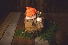 Hey, I found this really awesome Etsy listing at https://www.etsy.com/listing/213881469/newborn-orange-hunting-hat-and-deer